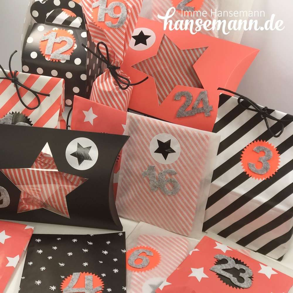 Cooles Adventskalender Set limitiert www.hansemann.de