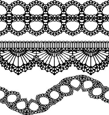 Vertical Seamless Pattern Black Lace by vikpit74, Royalty ...