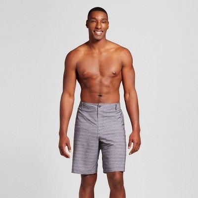 17b9791fb2 Men's Big & Tall Hybrid Stripe Swim Shorts - Mossimo Supply Co. Charcoal  46, Black