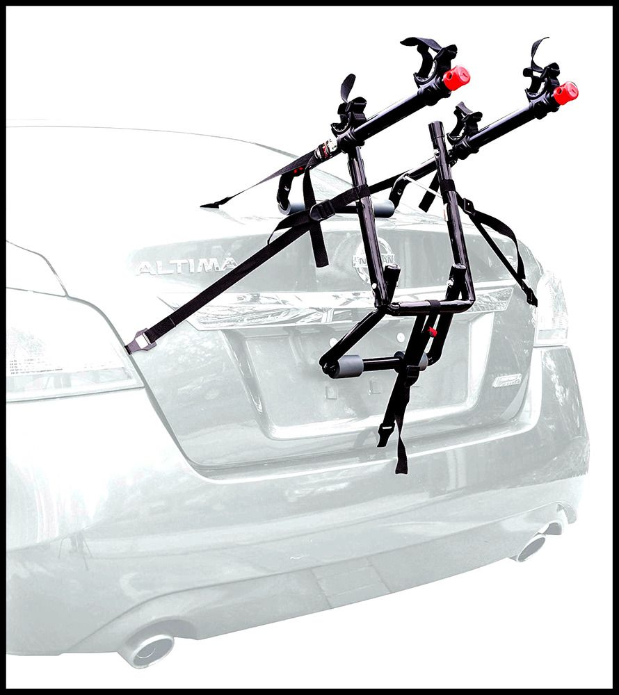 Car Trunk Mount 2Bike Bicycle Rear Carrier Travel Rack