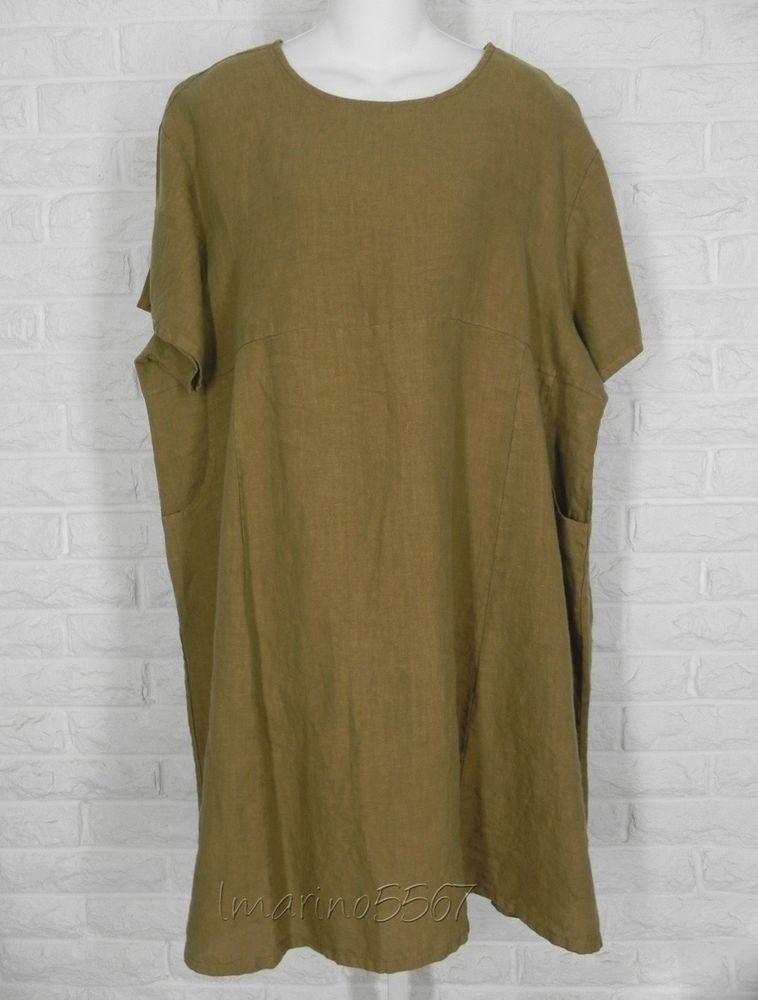 37789539de BRYN WALKER Linen Short Sleeve Mara Tunic Quinoa Brown New Small Medium  Large  BrynWalker  Tunic  Casual