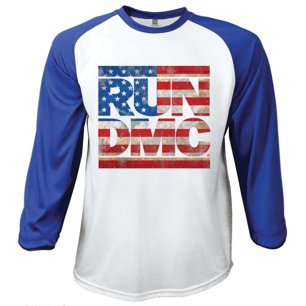 cee78fa0872 Run DMC Men s Raglan Tee  Americana Wholesale Ref RDMCBS01WBL ...