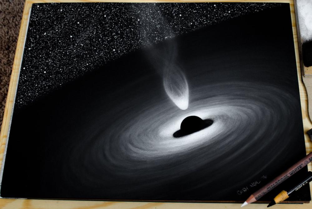 Black Hole Charcoal Drawing Album On Imgur Hole Drawing Black Hole Tattoo Space Drawings
