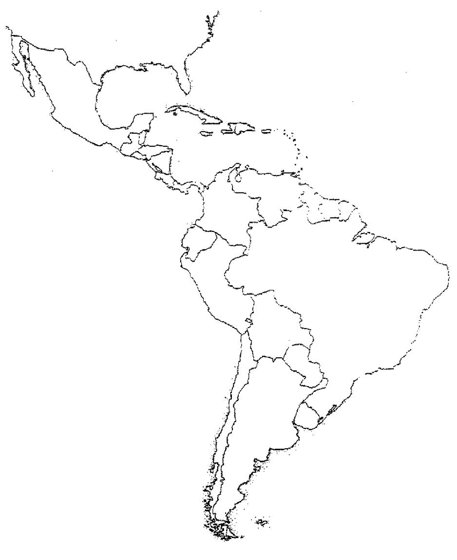 Blank Latin America Map Quiz Latin America Map America Map Map