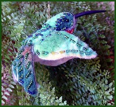 broatailed humming bird ornament