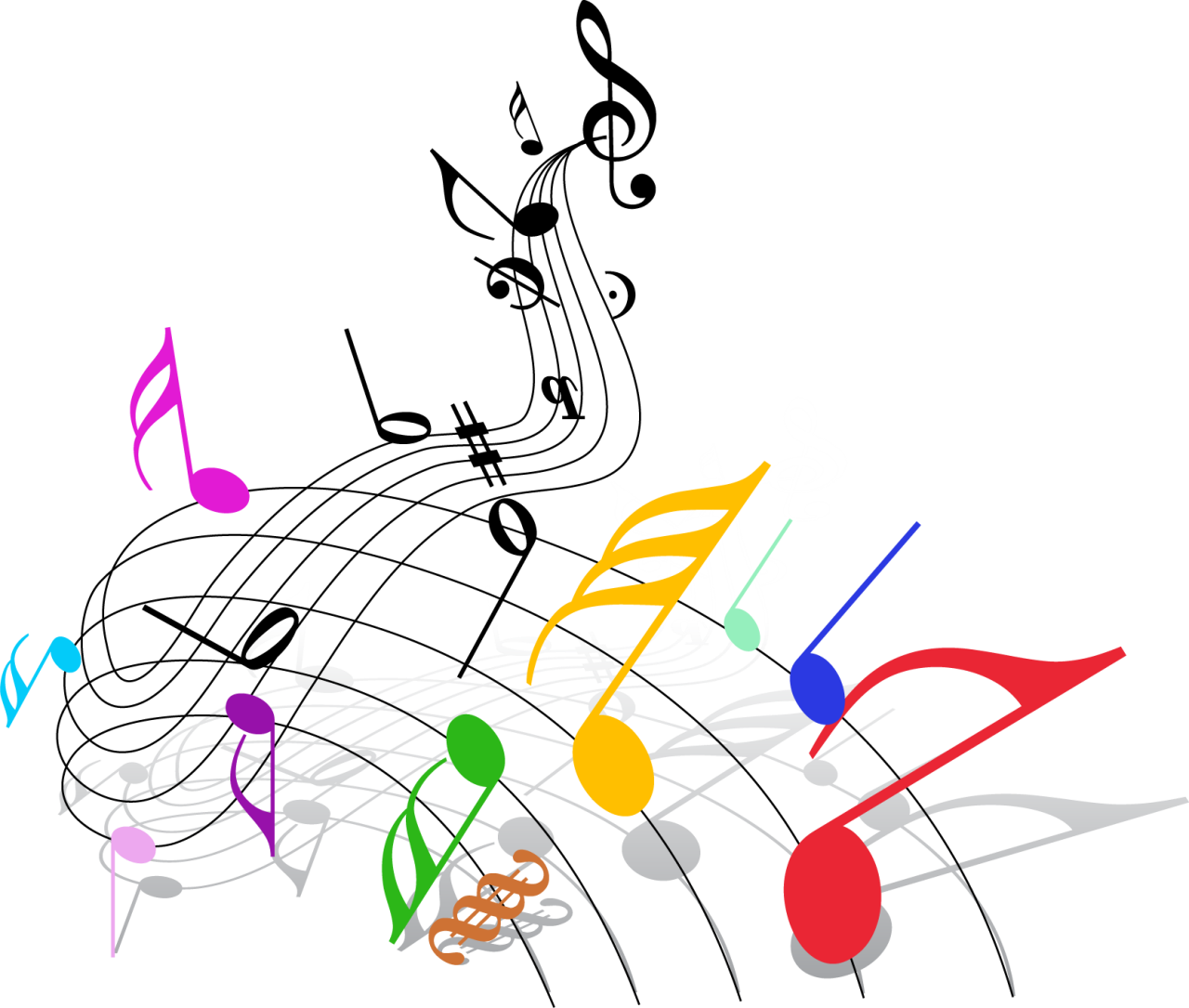 Download And Share Clipart About Musical Note Musical Theatre Clip Art Colorful Png Music Notes Find More High Quality Free Transparent Png Clipart Images Png