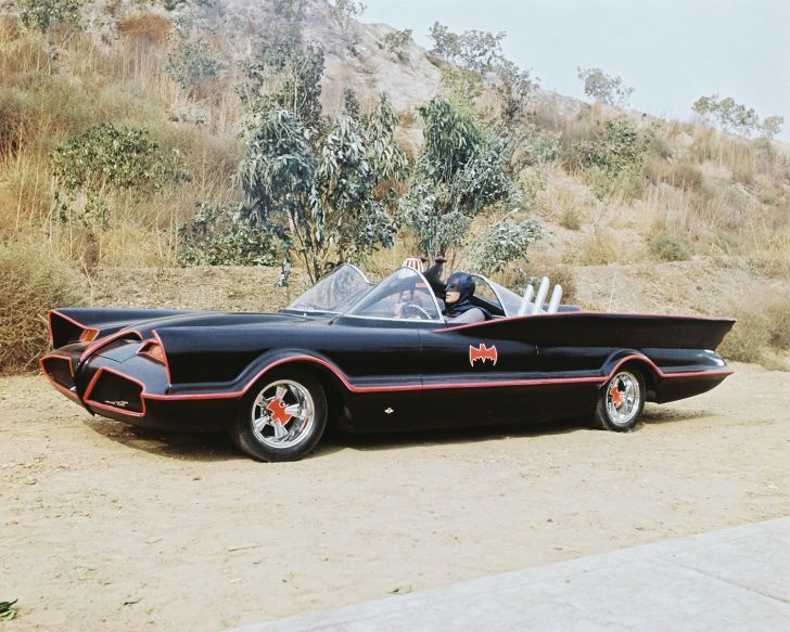 1966 batmobile the tv series car was based on the 1955 lincoln rh pinterest com