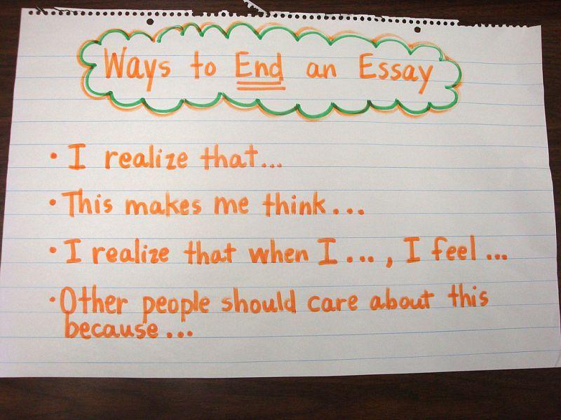 Ways to end essays