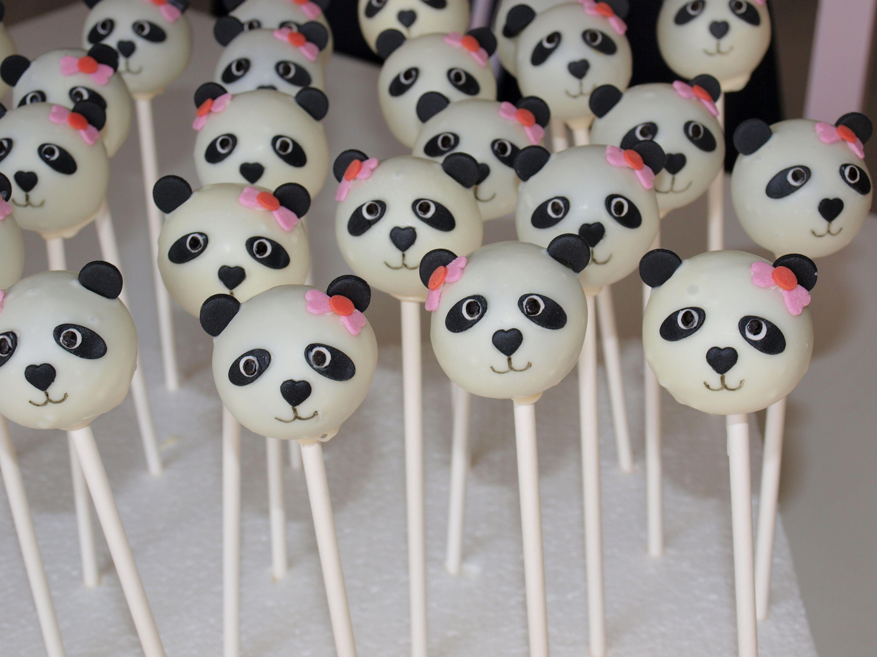Girl Panda Cake Pops