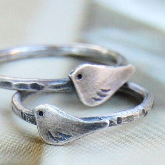 bangles like this :) le petit oiseau sterling silver bird ring - custom | Ottobone, Winter Park, FL