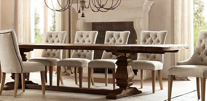 Restoration Hardware   Salvaged Wood Trestle Table In Salvaged Brown,  Simply Beautiful!