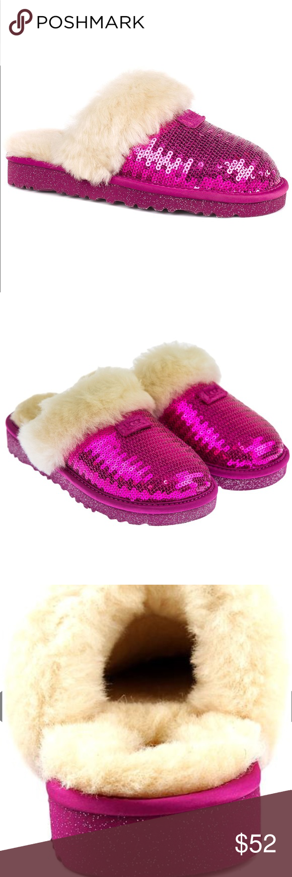 5e640c41dc3 🦄UGG Fuchsia Sequin Dazzle Slippers Add some sparkle to your life ...