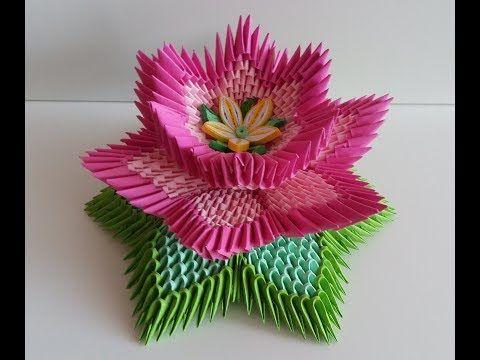 Youtube A Tuto Video Origami 3d Pinterest Lotus Flower