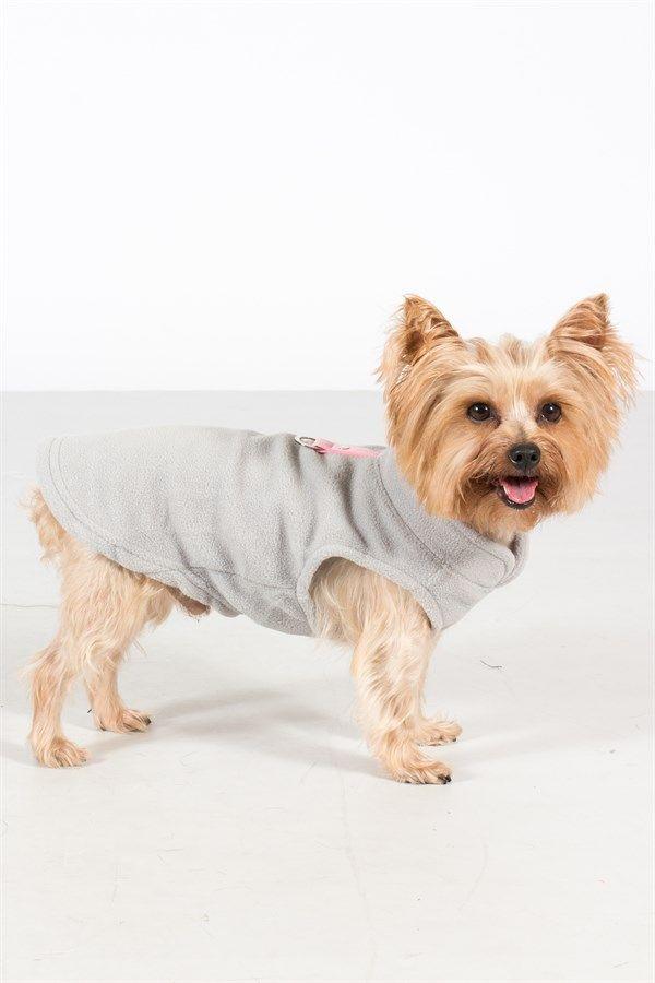 Fleece Dog Vest w/ Leash Attachment