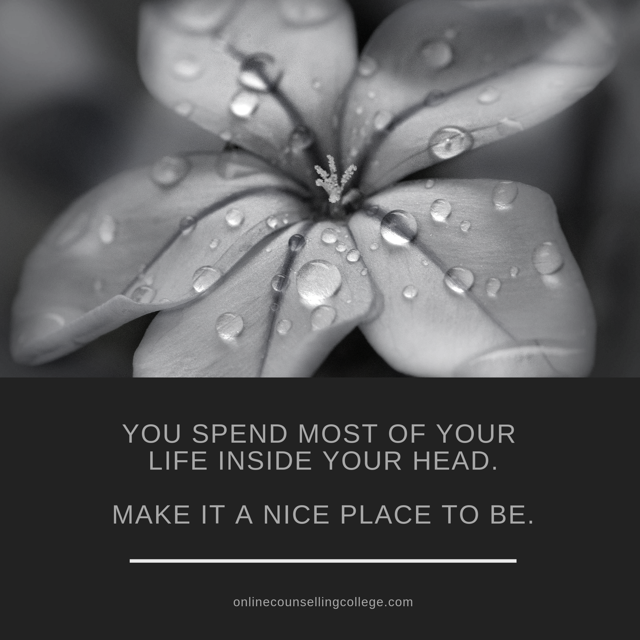"""""""You spend most of your life inside your head. Make it a ..."""