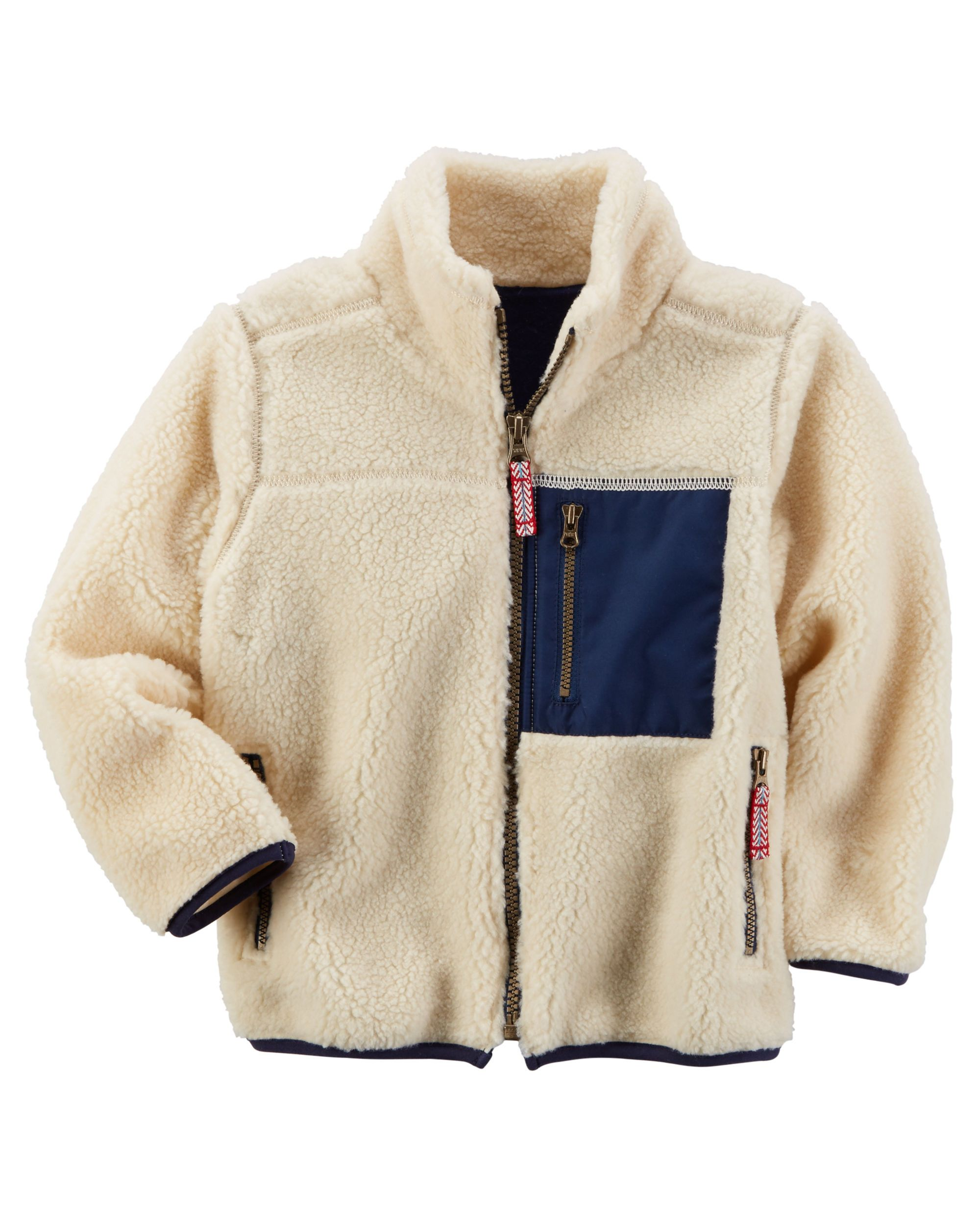 5e21350a6 Toddler Boy Sherpa Zip-Up Jacket