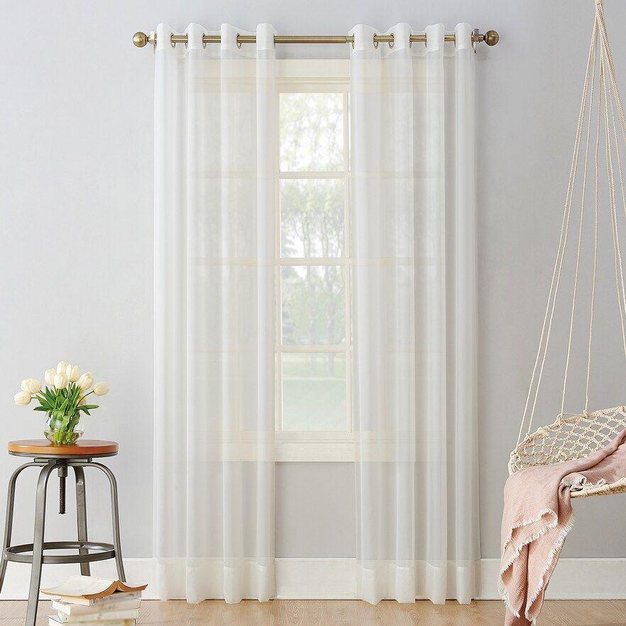 No 918 1 Panel Emily Sheer Voile Grommet Window Curtain Kohls