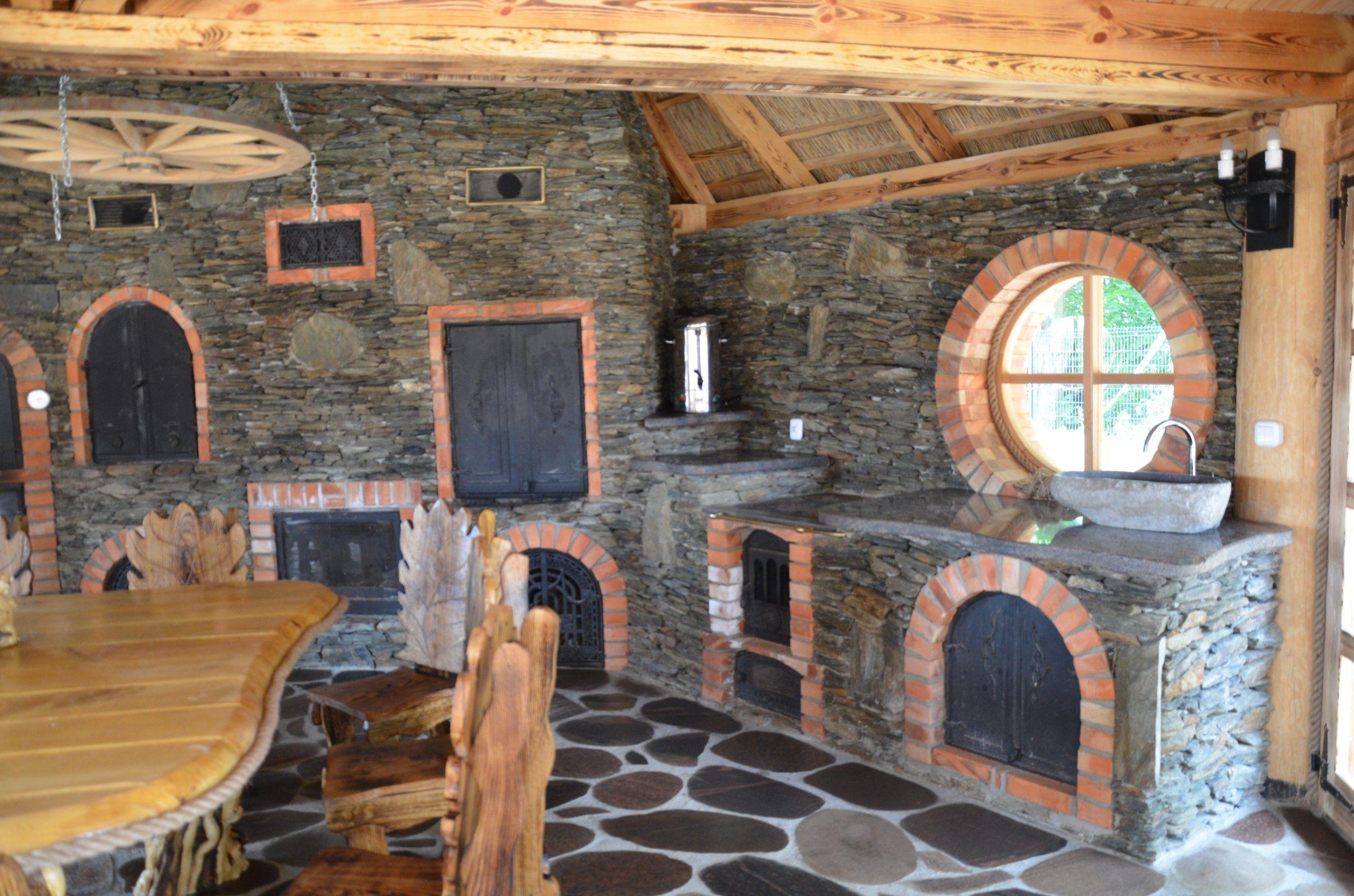Grill Wedzarnia Murowana Altana Piec Chlebowy 6677953641 Oficjalne Archiwum Allegro Outdoor Kitchen Woodworking Kitchen