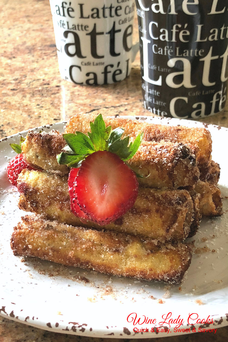 Air Fryer Cream Cheese and Jelly French Toast Roll Ups
