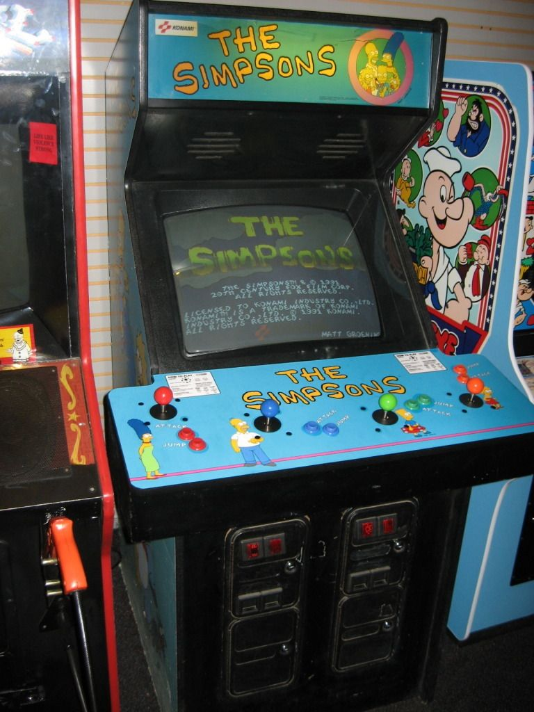 The simpsons working arcade game Arcade games, Gaming