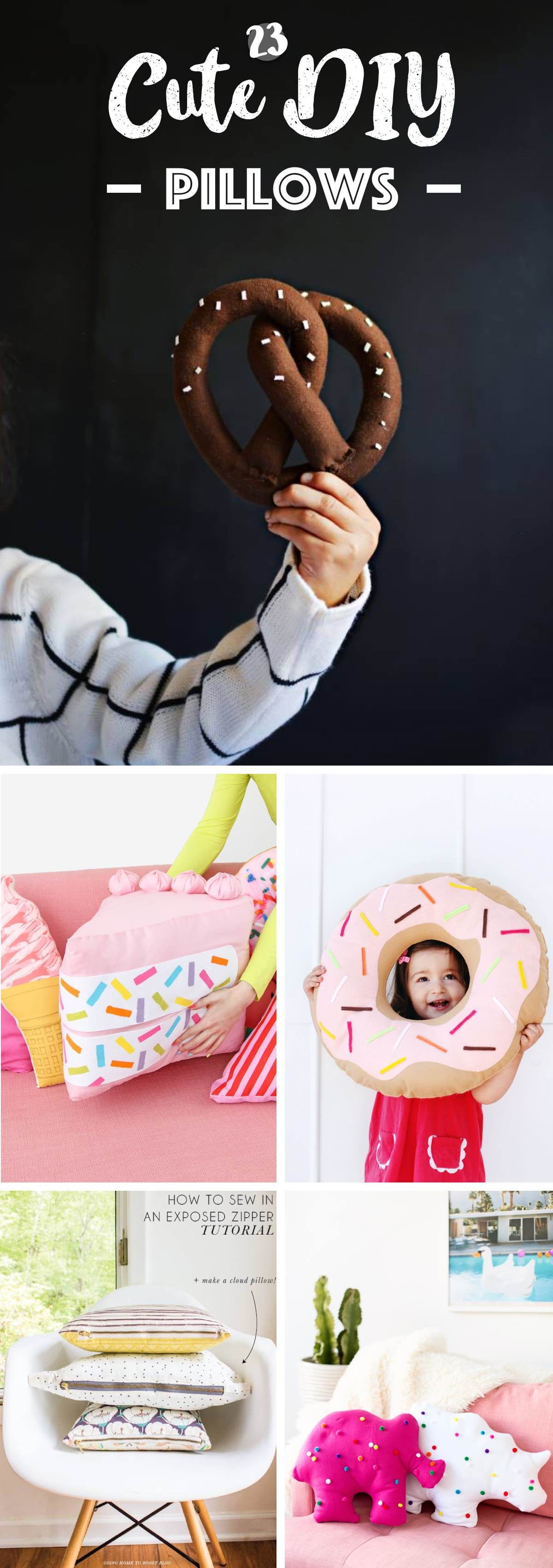 23 More Than Cute DIY Pillows Ranging From Food to Plants for the Themes! -   18 diy pillows food ideas