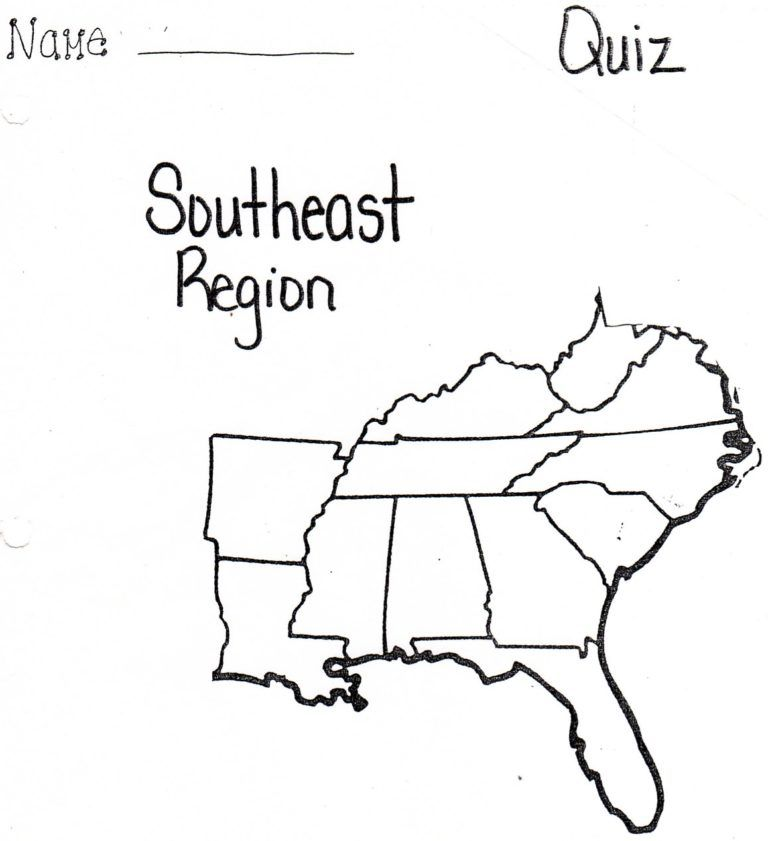 Printable Blank Map Southeast Us At Maps Throughout ...