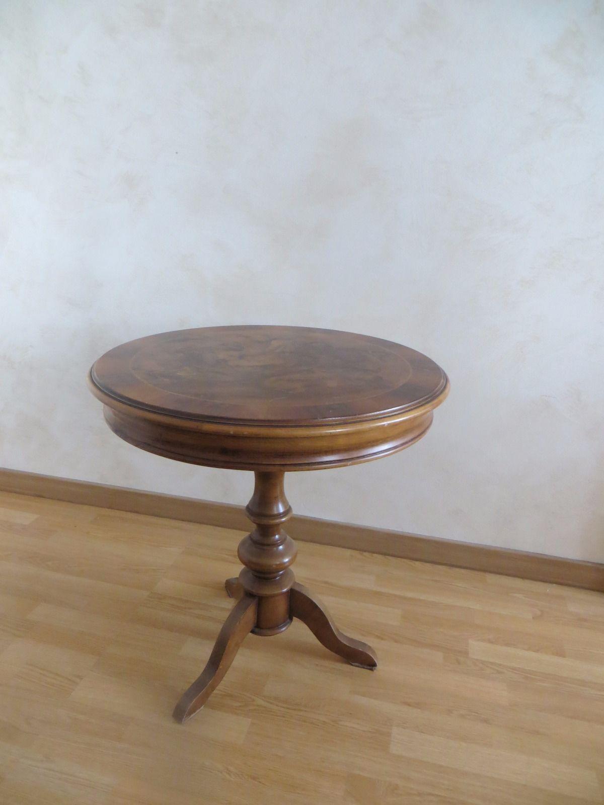 Table Ronde Ancienne En Bois Eur 130 00 Table Basse