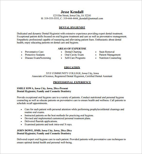 Resume Templates Dental Assistant 2 Templates Example Templates Example Dental Hygiene Resume Dental Hygienist Resume Dentist Resume