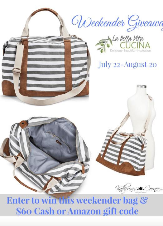 A Great Summer Giveaway: Weekender Bag Plus CASH
