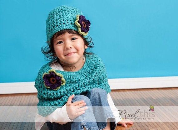 PDF Pattern - V-Stitch Caplet for Baby and Toddler ( 6/12, 12/24 and 2T/5T). $3.00, via Etsy.