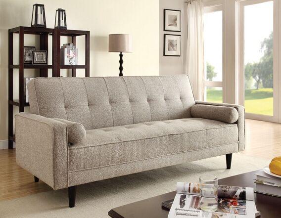 Edana Collection Sand Linen Fabric Upholstery Convertible