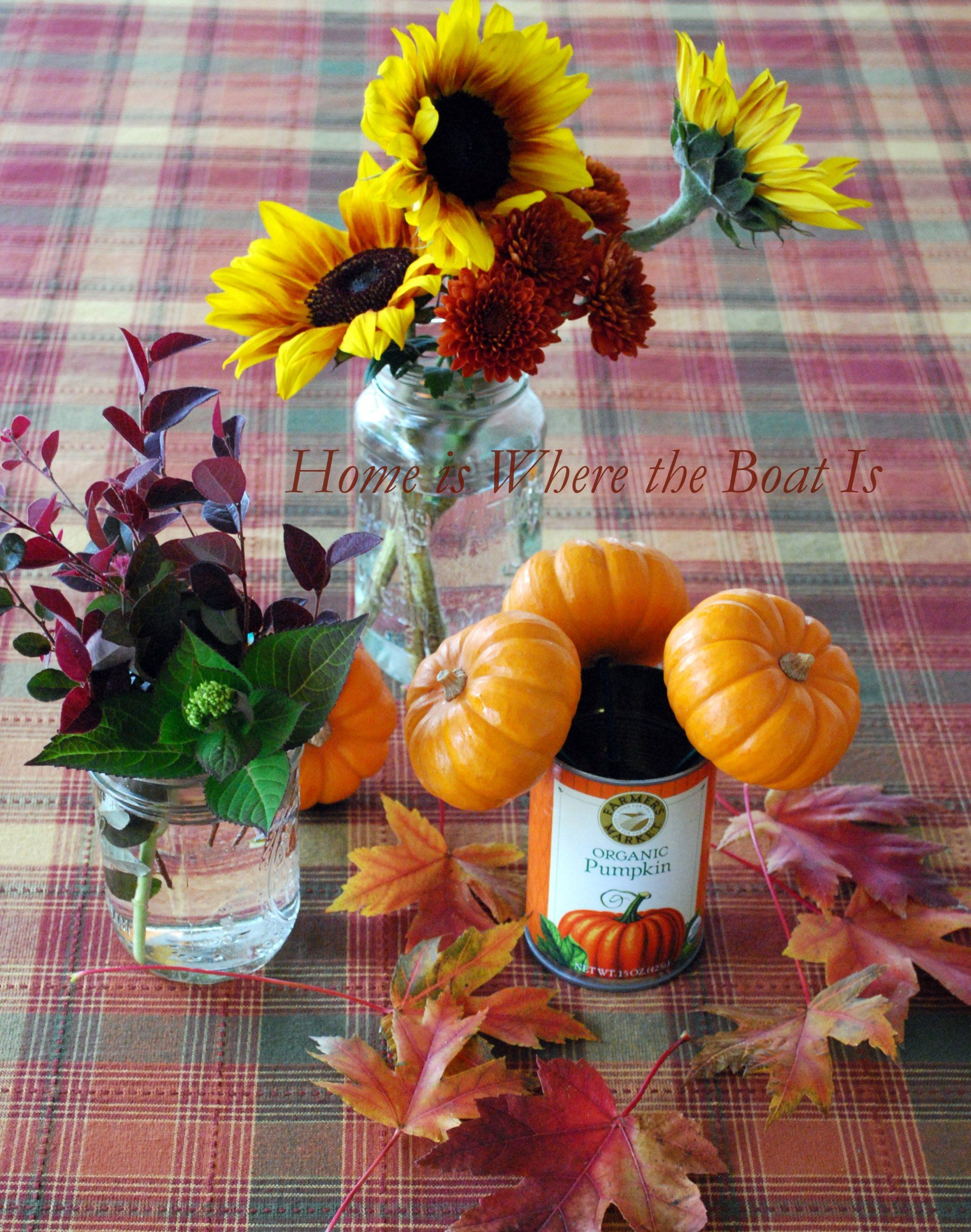 Mini Pumpkin Pies and a Blooming Can | Home is Where the Boat Is