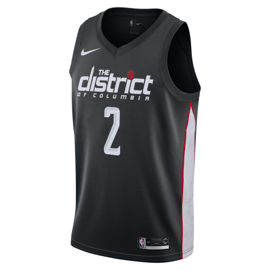 39b5f0328 John Wall City Edition Swingman (Washington Wizards) Men s Nike NBA  Connected Jersey Size 2XL (Black)