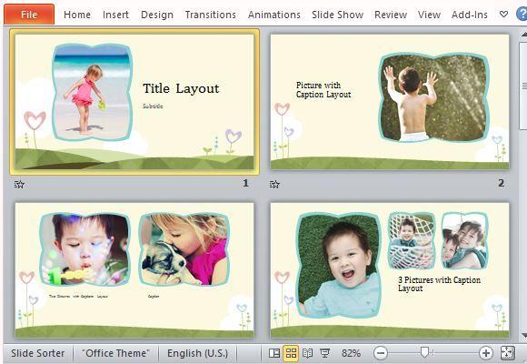Powerpoint Photo Album Template Microsoft Powerpoint Templates