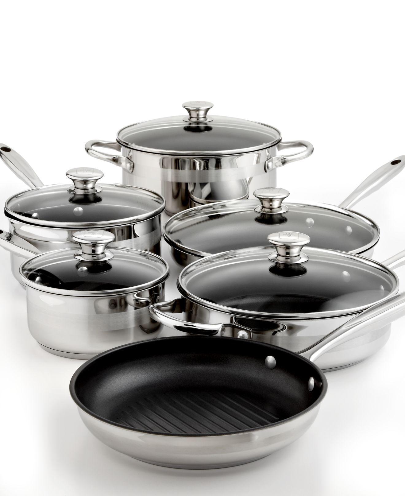 Wolfgang Puck Nonstick Cookware, 11 Piece Set - Cookware ...