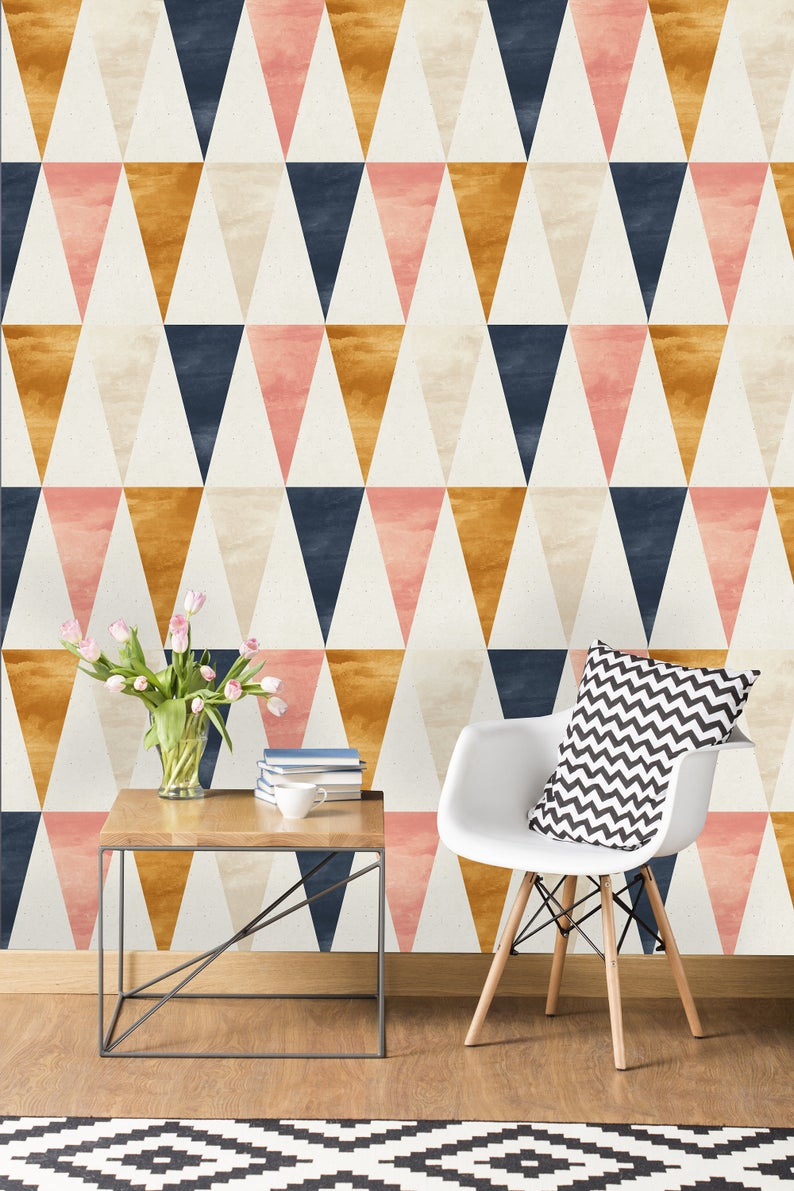 Removable Wallpaper Self Adhesive Wallpaper Gold Blue And Etsy Peel And Stick Wallpaper Removable Wallpaper Wallpaper Roll
