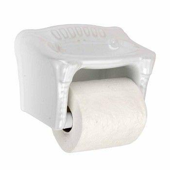Toilet Paper Holder White Ceramic Porcelain Tissue Holder 13502