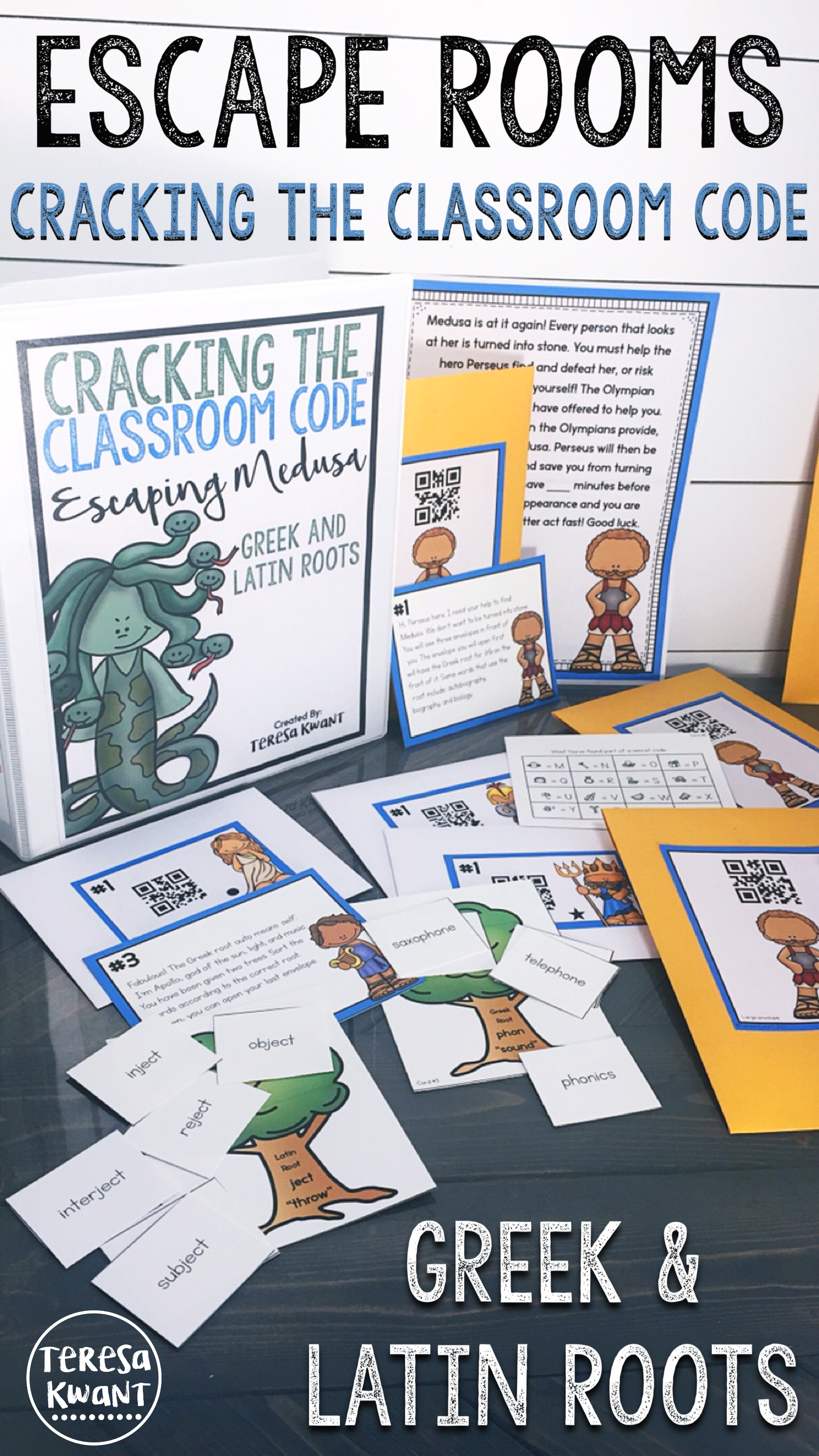 cracking the classroom code greek and latin roots escape room