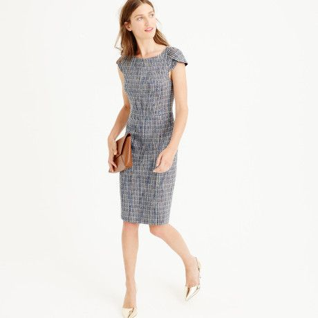 Love this: Petal-sleeve Dress In Flecked Tweed @Lyst