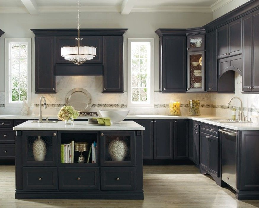 Corina maple graphite niagara kitchen by thomasville for Thomasville kitchen cabinets