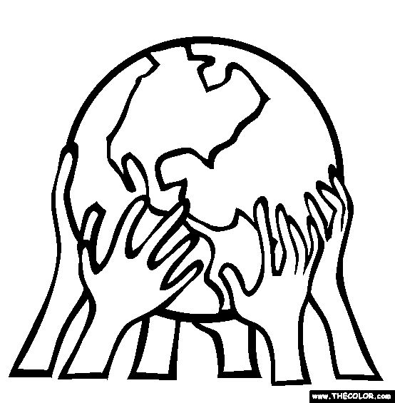 Earth Coloring Pages | People Power Coloring Pages | Earth ...