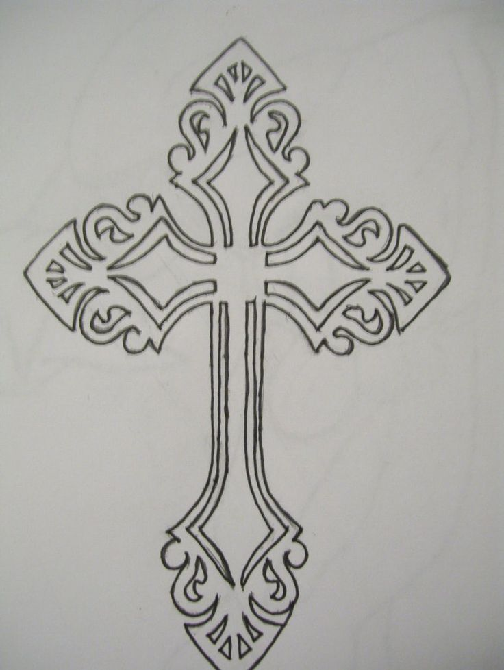 Pin On Cross Outline Tattoo Designs