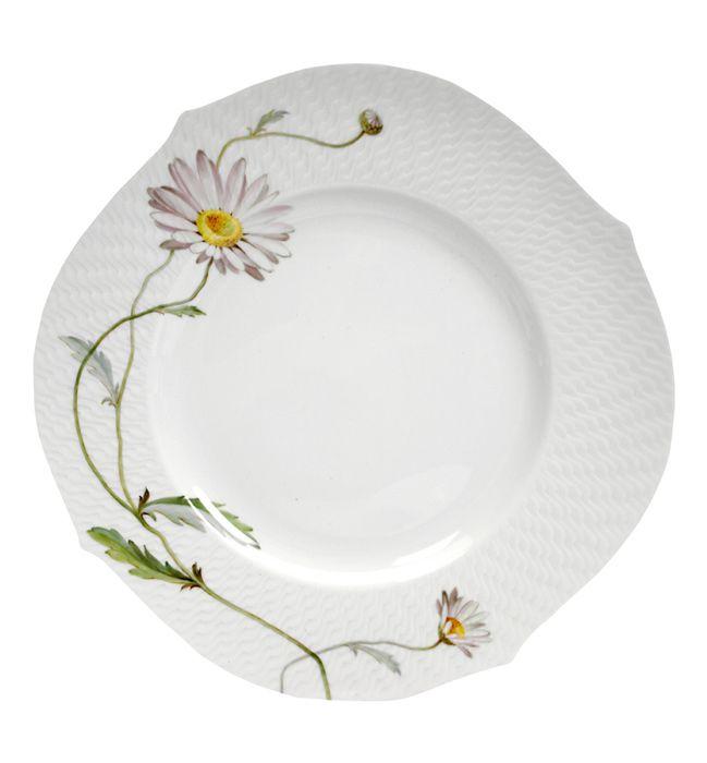 Dinner plate, Flower painting marguerite, ø 28,5 cm