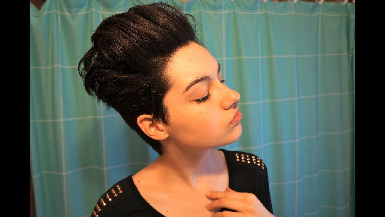 Haare Nach Hinten Stylen Kurzhaarfrisuren Haare Stylen Kurze Haare Trend