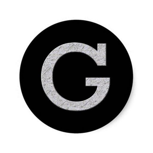 Monogram letter g classic round sticker