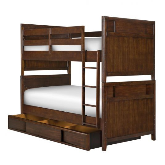 Twilight Bunkbed Twin Bunk Bed In Chestnut Jerome S Furniture