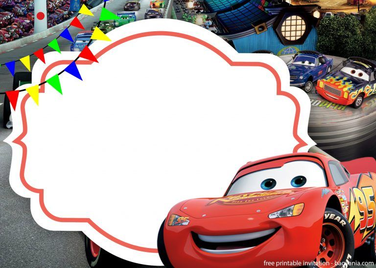 Free The Cars 3 With Photo Invitation Template Free Printable Birthday Cars Birthday Invitations Printable Birthday Invitations Car Birthday Invitations Free