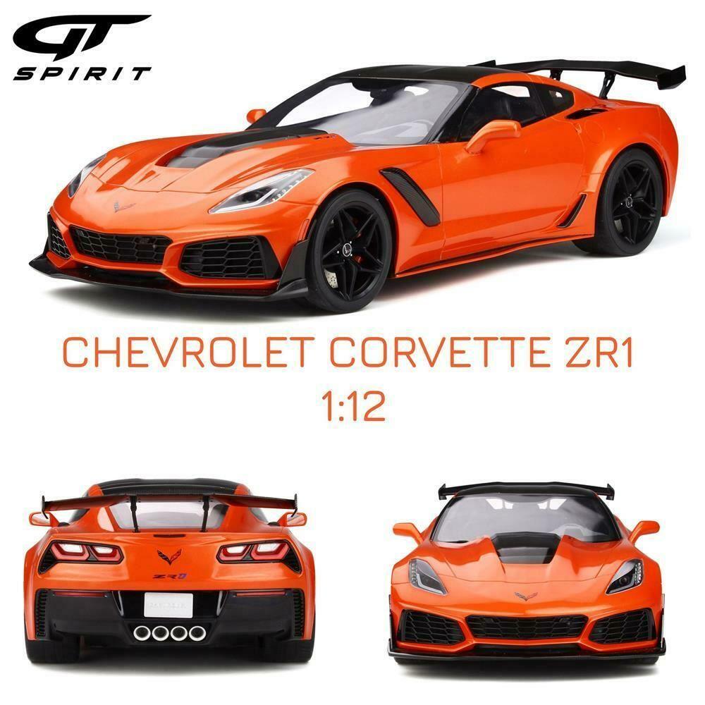 1 12 Gt Spirit Chevrolet Corvette C7 Zr1 In Sebring Orange Gt246