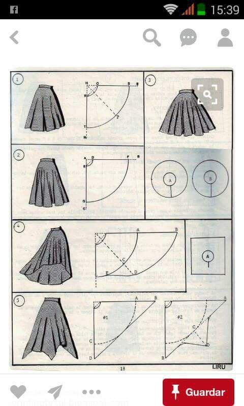 Faldas   Sewing   Pinterest   Falda, Moda para mujer y Para mujeres