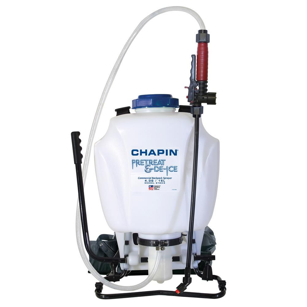 Chapin 4 Gal Pre Treat And Liquid Ice Melt Backpack Sprayer Lawn Landscape Control Flow Liquid Ice Melt